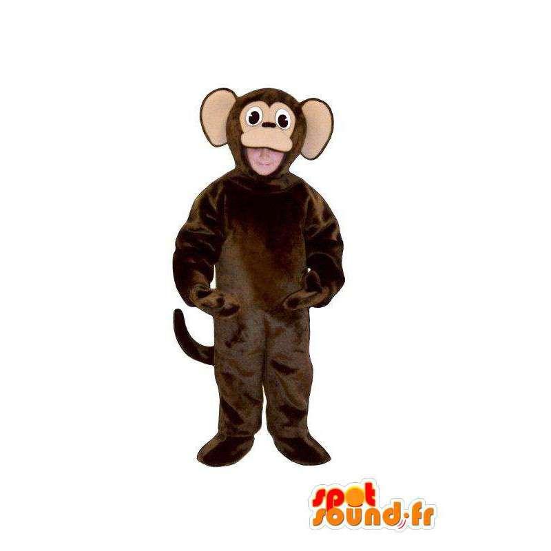 Disguise dark brown plush monkey - monkey costume - MASFR005040 - Mascots monkey