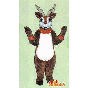 Deer mascot plush brown and white - MASFR005045 - Mascots stag and DOE