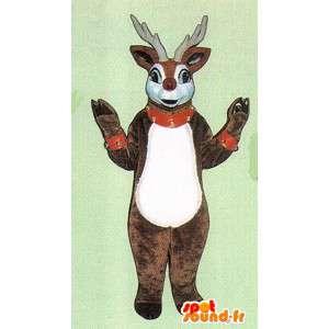 Fyldte brune og hvide hjorte maskot - Spotsound maskot