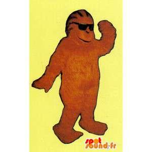 茶色の猿のマスコットぬいぐるみ - モンキーコスチューム