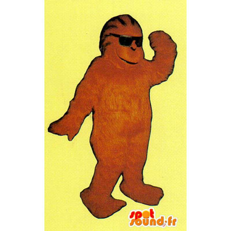 Mascotte de singe marron en peluche - Déguisement de singe - MASFR005048 - Mascottes Singe