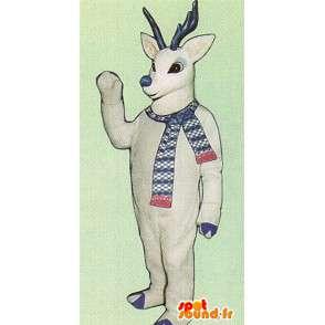 Valkoinen peura maskotti sininen sarvet - MASFR005049 - Stag ja Doe Mascots