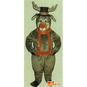 Zielony brązowy jelenie przebranie - jelenia kostium