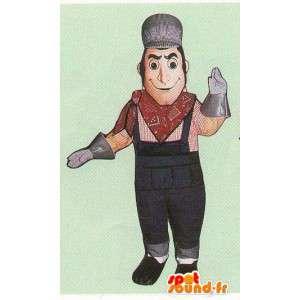 Verkleidung eines Eisenbahner - Kostüm eines Eisenbahner - MASFR005091 - Menschliche Maskottchen