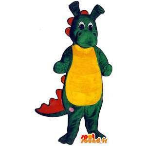 Representando un traje colorido bebé cocodrilo