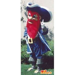 Barba pirata da mascote vermelho - traje barba vermelha - MASFR005088 - mascotes piratas