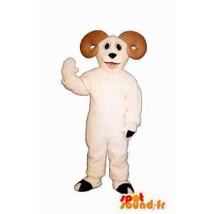 Goat mascot plush beige