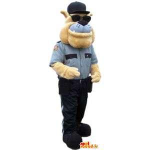Dorosłych maskotka buldog detektyw przebranie - MASFR005123 - dog Maskotki