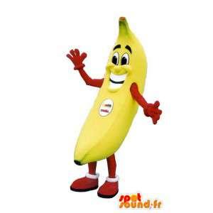 Mascot banaan glimlach - volwassen kostuum