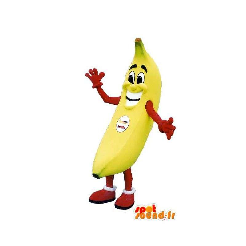 Banana mascot smile - adult costume - MASFR005126 - Fruit mascot