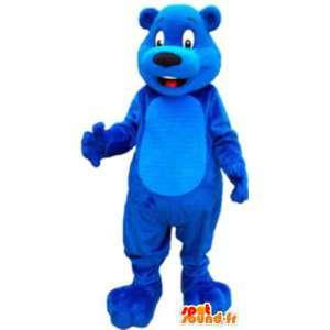 Blue Bear mascotte spedizione gratuita - MASFR005132 - Mascotte orso