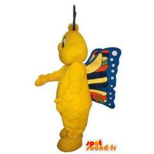 Fargerik sommerfugl maskot kostyme