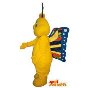 Kleurrijke vlinder mascotte kostuum