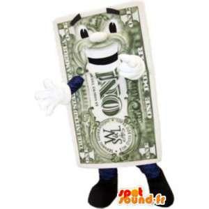 Mascotte billet d'un dollar