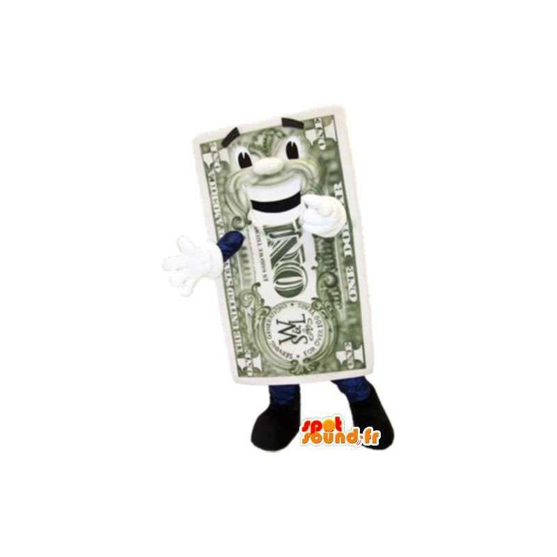Mascotte billet d'un dollar - MASFR005135 - Mascottes d'objets