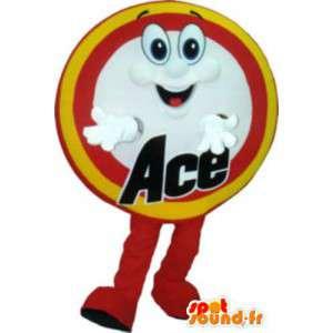 Ace maskotti puku aikuinen - MASFR005155 - Mascottes d'objets