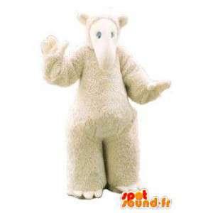 Maskotti puku valkoinen tapiiri