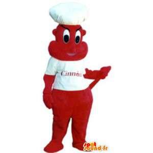 Déguisement diablotin mascotte cuisinier pour adulte