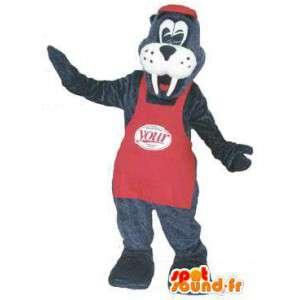 Fantasia de mascote para adulto morsa sua marca
