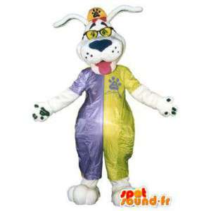Adult costume dog costume with colored glasses - MASFR005159 - Dog mascots