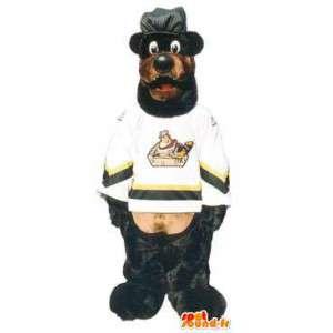 Urheilu maskotti karhu koripalloilija täytyy peittää - MASFR005160 - Bear Mascot