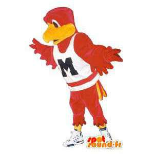 Adult bird costume with fancy sports shoes
