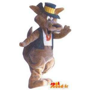 Déguisement pour adulte mascotte kangourou prestidigitateur