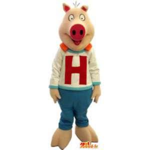 H slem maskot kostyme voksen Hot Sauce - MASFR005171 - Pig Maskoter