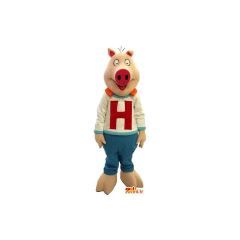 Maskottchen-Kostüm freche H Hot Sauce Erwachsene - MASFR005171 - Maskottchen Schwein