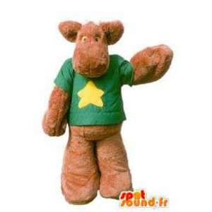 Maskotti vauhtia shirt aikuinen fantasia puku - MASFR005178 - Stag ja Doe Mascots