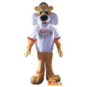 Marty's mascotte tijger kostuum voor volwassen dier