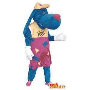 Sininen koira maskotti hattu aikuisen tutka - MASFR005183 - koira Maskotteja