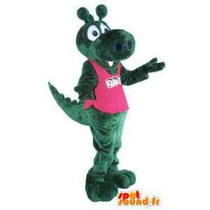 Dragón traje de la mascota para adultos de color rosa t-shirt