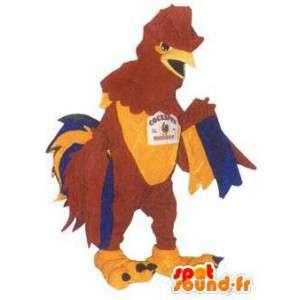 Mascotte costume adulto divertente gallo costume colorato - MASFR005185 - Mascotte di galline pollo gallo