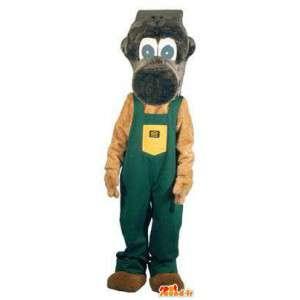 Mascotte singe bricoleur déguisement pour adulte