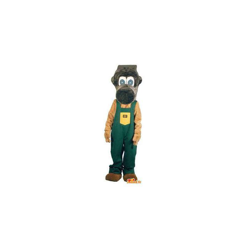 Monkey mascot costume for adult handyman - MASFR005189 - Mascots monkey