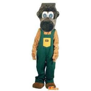 Mascotte singe bricoleur déguisement pour adulte - MASFR005189 - Mascottes Singe