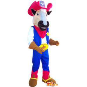 Mascot costume cow cowboy outfit adult - MASFR005190 - Mascot cow
