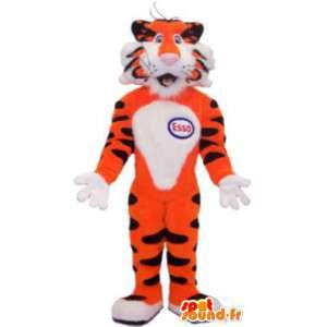 Mascotte tigre marque Esso déguisement pour adulte