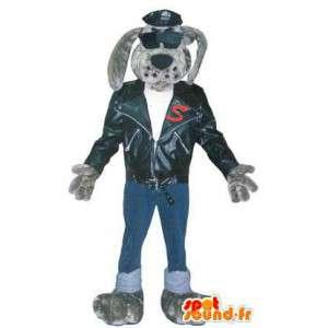 Hond kostuum voor volwassenen rocker 's avonds voor de mascotte - MASFR005202 - Dog Mascottes