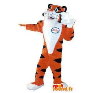 Mascot Esso tijger kostuum voor volwassenen