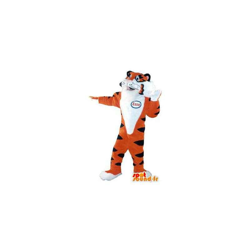 Tiger-Maskottchen-Kostüm für Erwachsene Marke Esso - MASFR005204 - Tiger Maskottchen