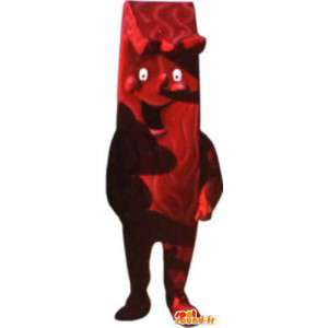 Mascot costume for adult chocolate bar laughing