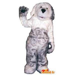 Langhåret grå hundemaskot-kostume til voksne - Spotsound maskot