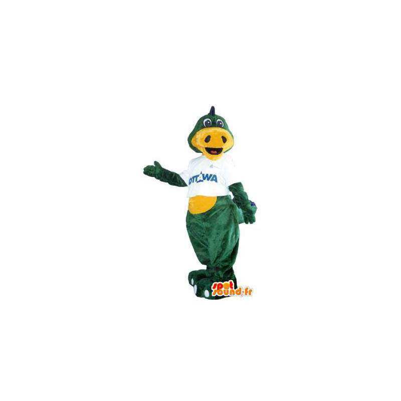 Green dragon mascot costume for adults brand Ottawa - MASFR005216 - Dragon mascot