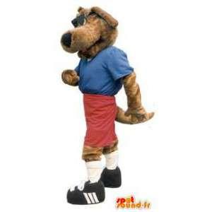 Hundesport-Maskottchen Charakter mit Brille - MASFR005218 - Hund-Maskottchen