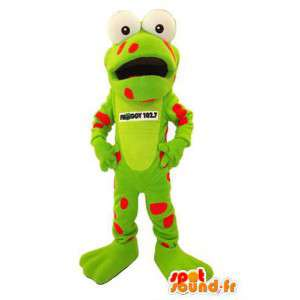 Carácter mascota del traje de la rana Froggy