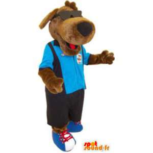 Mascot dog with glasses and clothes costume adult - MASFR005222 - Dog mascots