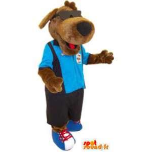 Maskottchen-Hund mit Brille und Kleidung Kostüm - MASFR005222 - Hund-Maskottchen
