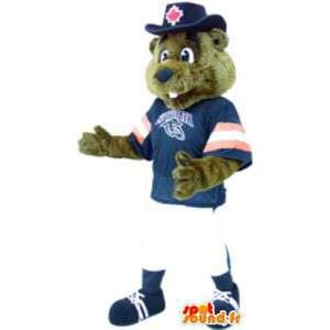 Aikuinen puku maskotti urheilu baseball karhu - MASFR005226 - Bear Mascot